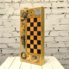 Настольная игра 3 в 1 Роза ветров (шахматы, шашки, нарды)