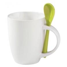 Кружка с зеленой ложкой