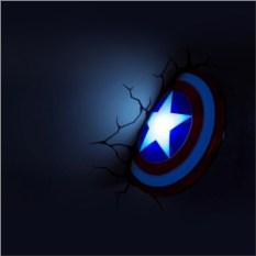 3D светильник Щит Капитана Америки