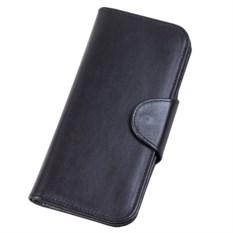Портмоне-кошелек из натуральной кожи черного цвета