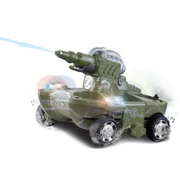 Радиоуправляемый танк-амфибия YED Amphibious Green Tank