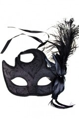 Карнавальный сувенир Маска Арлекин, черная