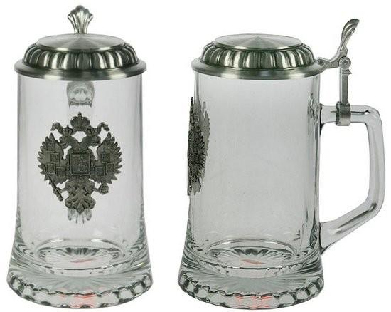 Пивная кружка Герб с крышкой