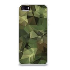 Силиконовый глянцевый чехол для Apple iPhone 5S Камуфляж