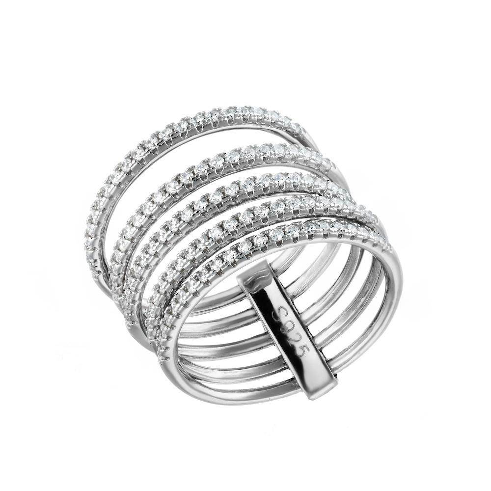 Широкое кольцо из серебра