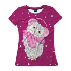 Женская футболка 3D Сова