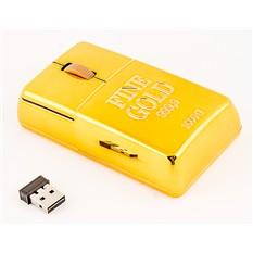 Беспроводная компьютерная мышь Золотая