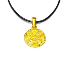 Кулон Янтра Лакшми (позолоченное серебро)