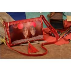 Женский клатч с принтом Забавные совушки