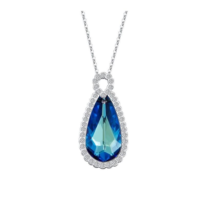 Кулон с синим кристаллом Сваровски «Ностальгия»