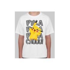 Детская футболка с покемоном Пика пика пикачу