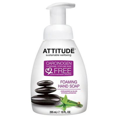 Жидкое мыло-пенка для рук кориандр и олива Attitude