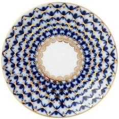 Фарфоровая кофейная чашка с блюдцем Кобальтовая сетка