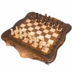 Резные нарды и шахматы Арарат