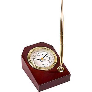 Настольный набор с часами и ручкой