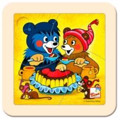 Пазл Медвежонок с тортом