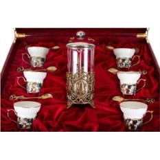 Чайный сервиз с френч-прессом Колокольчики
