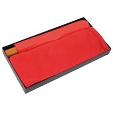Набор: складной зонт и флисовый шарф в подарочной упаковке, красный