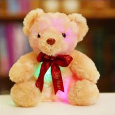 Светящаяся плюшевая игрушка Мишка с лентой
