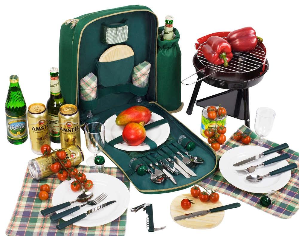 Набор для пикника с барбекю на 2 персоны