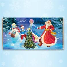 Шоколадная открытка «Новогодний хоровод»