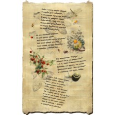 Пергамент Романтическое поздравление второй половинке