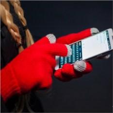 Перчатки для сенсорных экранов Есть контакт! (красные)