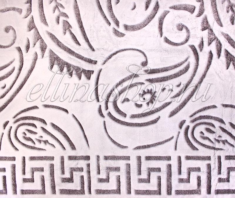 Бамбуковый плед Лабиринт темно-коричневого цвета (Karven)