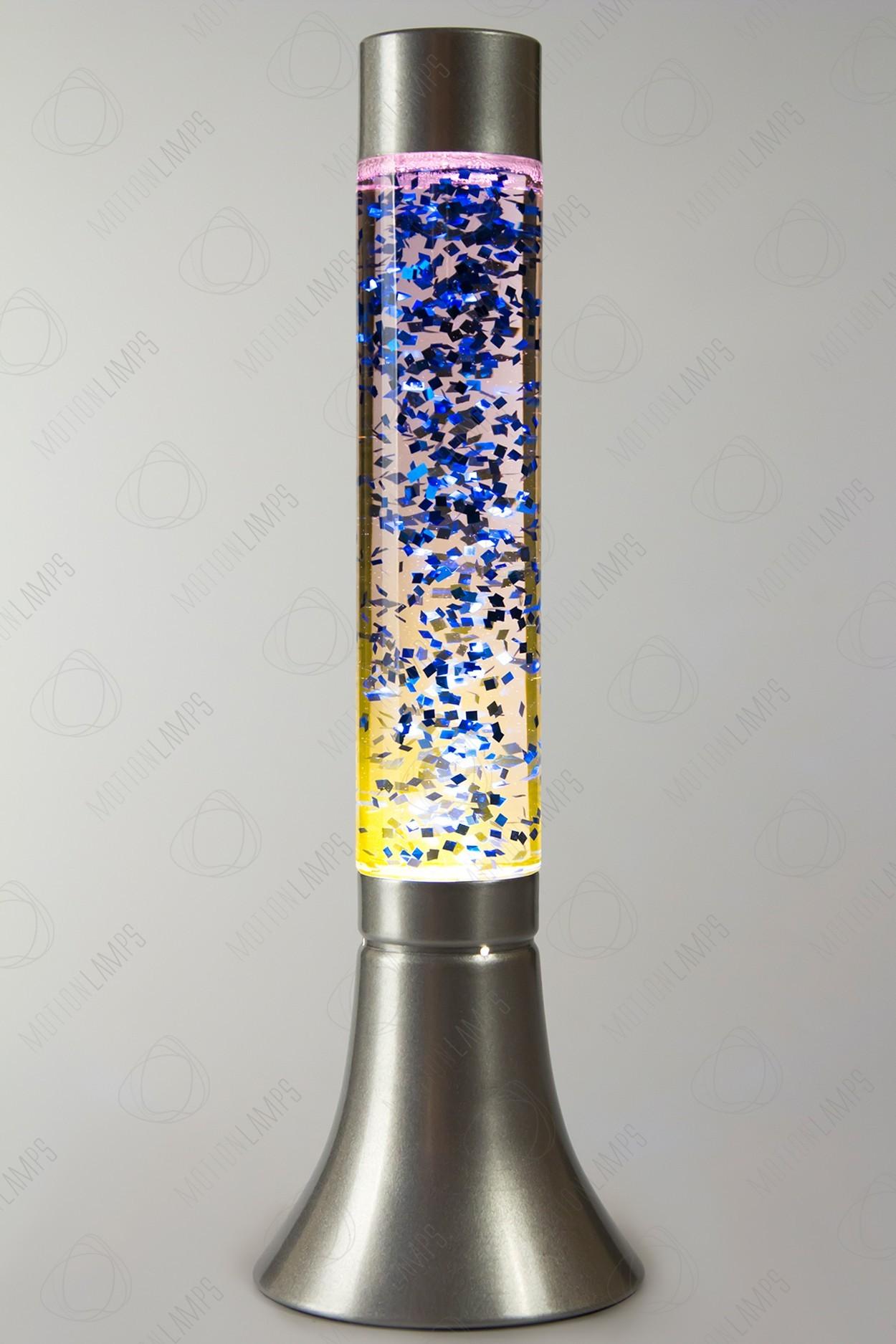 Лава-лампа (цвет — фиолетовый с синими блёстками)