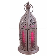Розовый подсвечник Фонарь