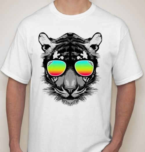 Футболка Тигр в очках