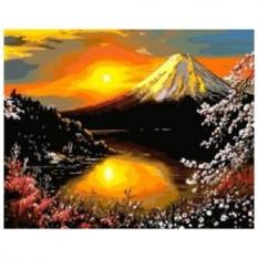 Картина-раскраска по номерам на холсте Фудзи