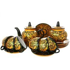 Чайный сервиз с художественной росписью Золотая русь