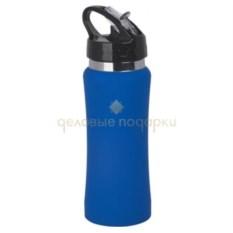 Синяя спортивная проризиненная бутыль Индиана