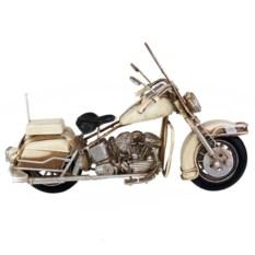 Ретро-модель Белый мотоцикл