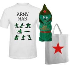 Мужской набор с полотенцем Военный