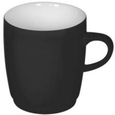 Черная кружка Soft с прорезиненным покрытием