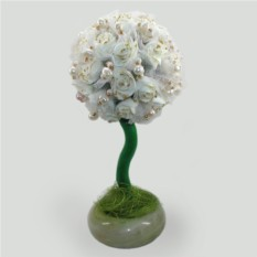 Дерево-топиарий из жемчуга Свадебное