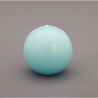 Свеча «Шар» d=6 см. лакированная, светло-голубая