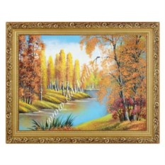 Картина Осенний пейзаж в багете из гипса (30х40 см)