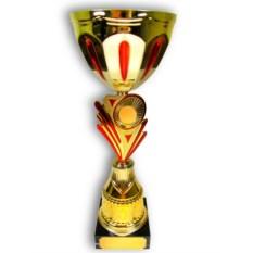 Кубок с индивидуальной гравировкой Золото с красным