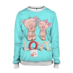 Женский свитшот Love Teddy bears