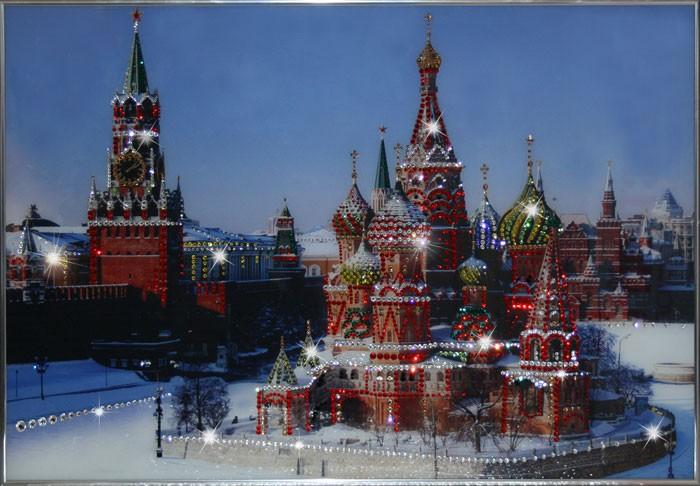 Картина с кристаллами Сваровски Собор Василия Блаженного