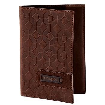 Обложка для паспорта, темно-коричневая