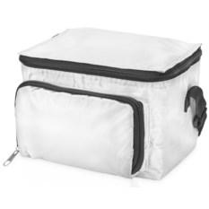 Белая сумка-холодильник с отделением на молнии на 3 литра