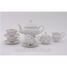 Чайный сервиз Мелкие цветы на 12 персон (27 предметов)
