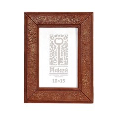 Рамка для фота из дерева с отделкой из кожи
