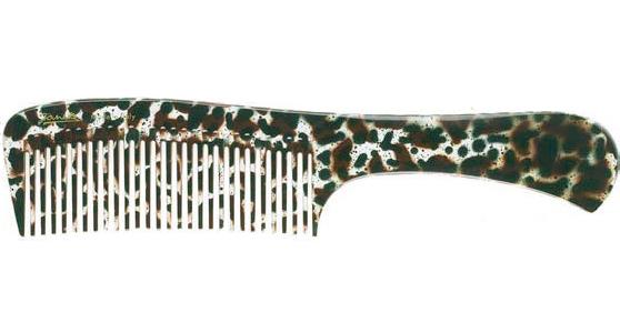 Расческа с ручкой большая леопардовая