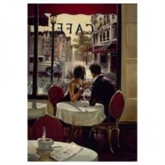 Картина-раскраска по номерам на холсте Уютное кафе