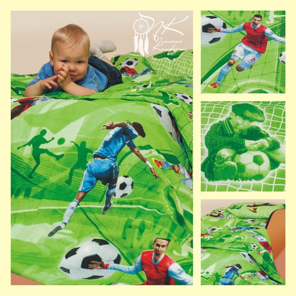 Комплект детского постельного белья (на резинке) Футбол